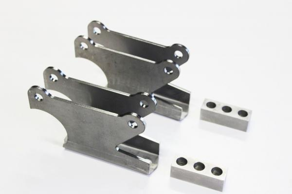1932-34 REAR 4 BAR CHASSIS BRACKETS SUIT PARALLEL READY TO WELD SOLD AS A PAIR
