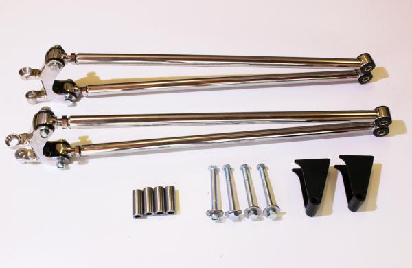 FRONT 4 BAR KIT POLISHED STAINLESS FORD 1932-34 ENGINEER APPROVED
