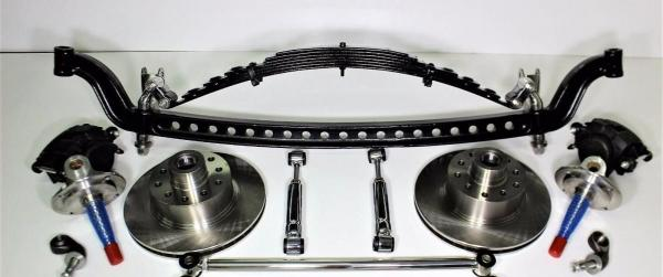 I BEAM FRONT SUSPENSION WITH POLISHED STAINLESS HAIR PINS