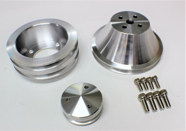 FORD WINDSOR PULLEY KITS DOUBLE V BILLET ALLOY 1969 AND LATER