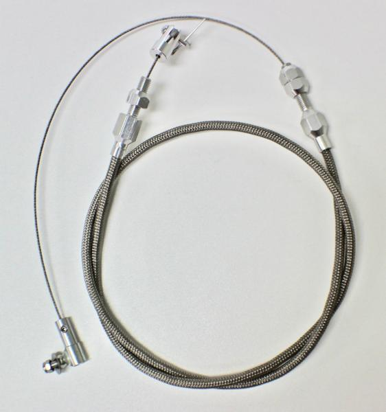 """36"""" THROTTLE CABLE BRAIDED STAINLESS STEEL UNIVERSAL ACCELERATOR FORD,CHEV,HOT ROD"""