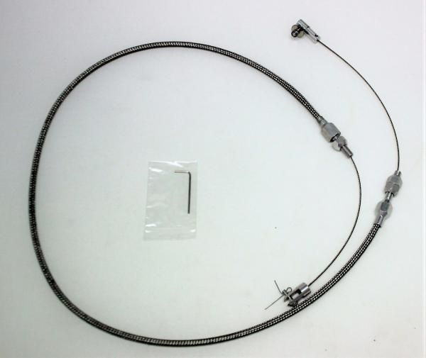 """24"""" THROTTLE CABLE BRAIDED STAINLESS STEEL UNIVERSAL ACCELERATOR FORD,CHEV,HOT ROD"""