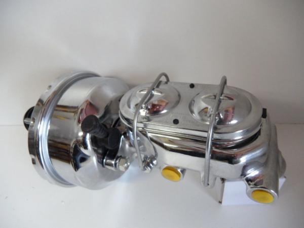"""7"""" CHROME SINGLE BOOSTER AND MASTER CYLINDER CLIP TOP"""