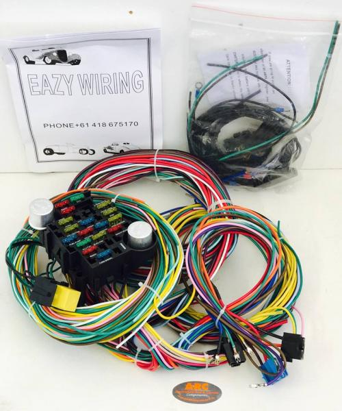 eazy wiring 21 circuit wiring harness kit rh partsforhotrods com au Trailer Wiring Harness Engine Wiring Harness