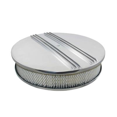 14 INCH HALF FINNED POLISHED ROUND AIR CLEANER