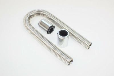 RADIATOR HOSE KITS STAINLESS STEEL 2 ALLOY CAPS 24 INCH HOSE