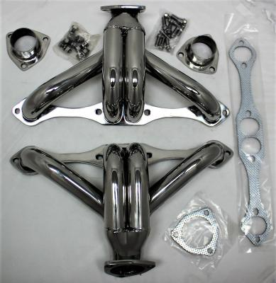 SMALL BLOCK CHEV STAINLESS STEEL EXHAUST BLOCK HUGGER HEADER SET