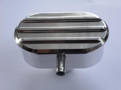 FINNED POLISHED ROCKER COVER BREATHER PCV WITH GROMMET