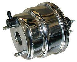 7 INCH DUAL DIAPHRAGM BOOSTER CHROME SUIT HOT ROD, FORD, CHEV
