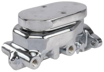 GM STYLE CHROME MASTER CYLINDER WITH FLAT TOP LID