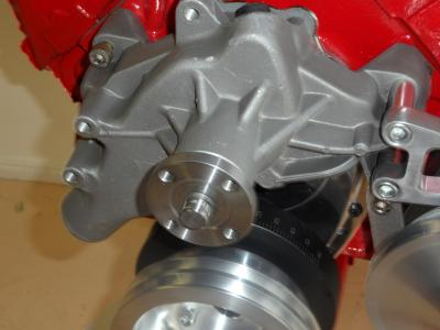 BIG BLOCK CHEV ALLOY WATER PUMP SATIN FINISH