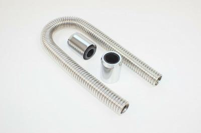 RADIATOR HOSE KITS STAINLESS STEEL 2 ALLOY CAPS 36 INCH HOSE