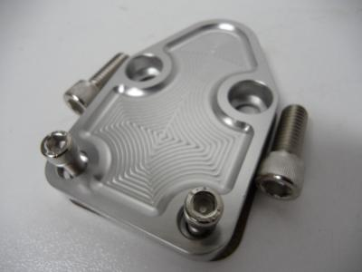 Fuel Blank Off Billet Alloy For Small Block Chev
