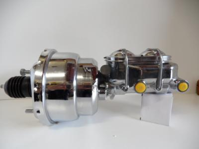8' Brake Booster chrome and chrome master cylinder