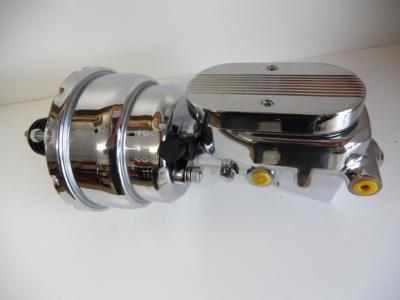 8' Brake Booster chrome and chrome master cylinder ball milled lid
