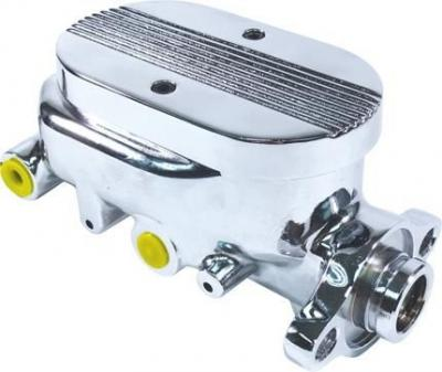 GM STYLE CHROME MASTER CYLINDER WITH BALL MILLED LID