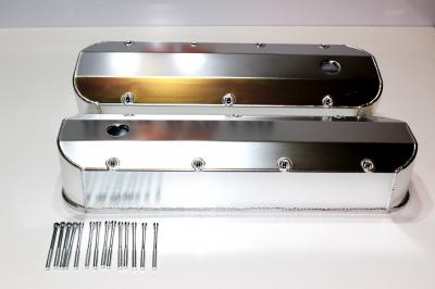 CHEV BIG BLOCK ALLOY SHEET METAL ROCKER COVERS WITH BOLTS