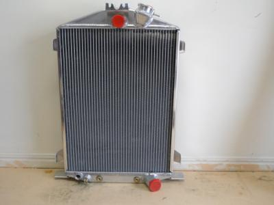 1932 FORD ALUMINIUM RADIATOR STOCK HEIGHT + TRANSMISSION COOLER - HOT ROD