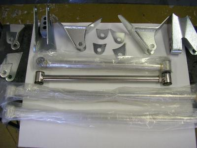 REAR TRIANGULATED 4 BAR KIT POLISHED STAINLESS