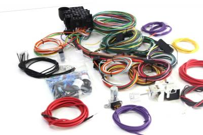 HOT ROD WIRING HARNESS 22 CIRCUIT COMPLETE A-Z + HEADLIGHT & DIPPER SWITCH