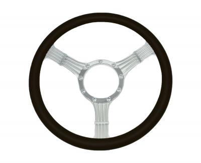 14 INCH BANJO STYLE BILLET STEERING WHEEL LEATHER HALF WRAP - 4 COLOURS