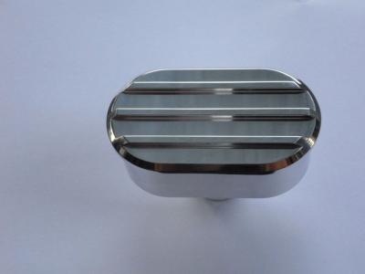 OVAL FINNED POLISHED ROCKER COVER BREATHER