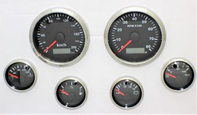 6 GAUGE SET ELECTRONIC + GPS SPEEDO SENDER HOT ROD, FORD, CHEV