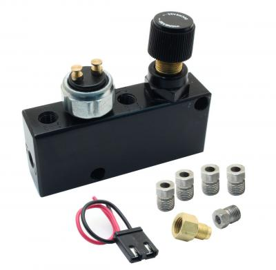 ADJUSTABLE PROPORTIONING VALVE + DISTRIBUTION BLOCK BLACK