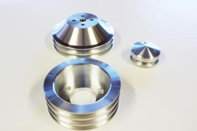 BIG BLOCK CHEV PULLEY KITS 3V-2V  BILLET ALLOY SHORT PUMP SATIN FINISH