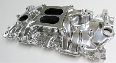 POLISHED CHEV SMALL BLOCK INTAKE MANIFOLD DUAL PLANE ELIMINATOR 283 327 350