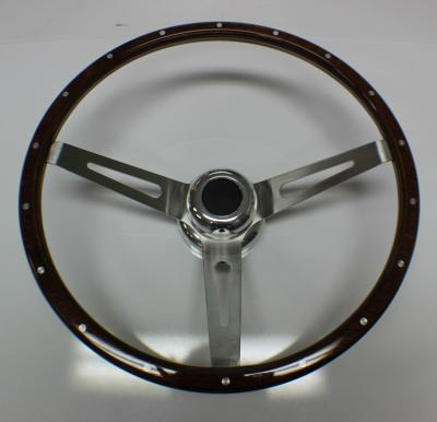 GM MUSCLE CAR WOOD GRAIN STEERING WHEEL 15""