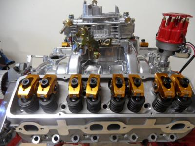 SMALL BLOCK CHEV ALUMINIUM HEADS 180cc INTAKE RUNNERS COMPLETE PACKAGE - STUDS, GUIDE PLATES + ROLLER ROCKERS