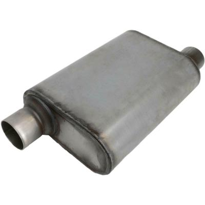 STAINLESS WELDED CHAMBER PERFORMANCE MUFFLER 2.5 Inch,OFFSET INLET/CENTRE OUTLET