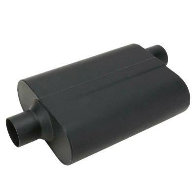 WELDED CHAMBER PERFORMANCE MUFFLER 2.5 Inch, OFFSET INLET/CENTRE OUTLET