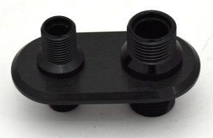 BLACK BILLET THROUGH FIREWALL AIR CON FITTING BULK HEAD