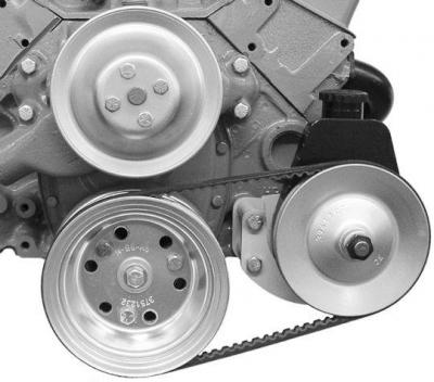 SMALL BLOCK CHEV SHORT PUMP SAGINAW BRACKET WITH PUMP AND PULLEY