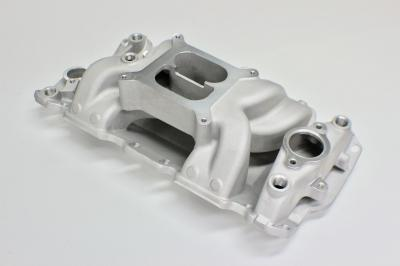 SMALL BLOCK CHEV DUAL PLANE AIR GAP INTAKE MANIFOLD